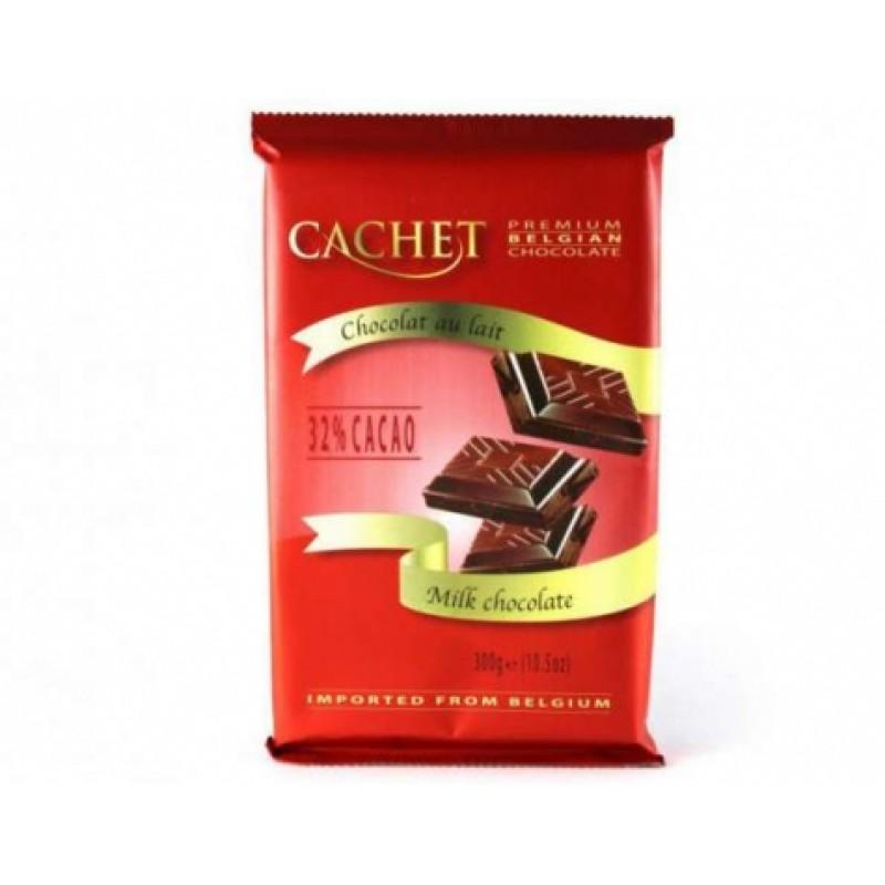 Шоколад Cachet молочний 32% какао 300г