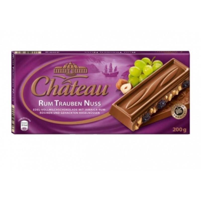 Шоколад Chateau Rum Trauben Nuss 200г