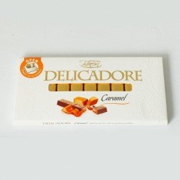 Шоколад Excellent Baron Delicadore молочний з карамелью 200г