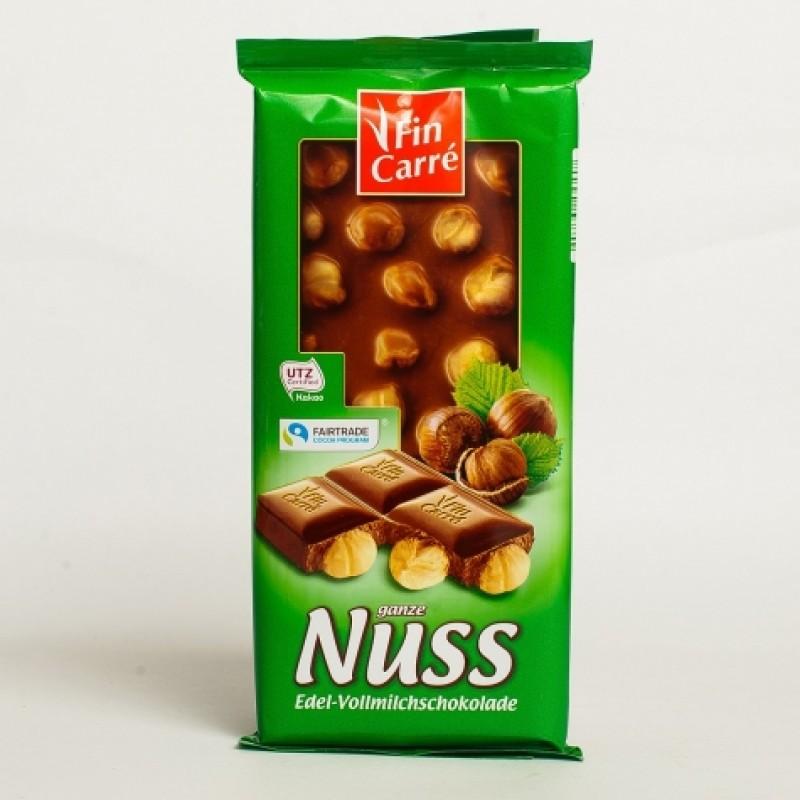 Шоколад Fin Carre з цiлим горiхом 100г