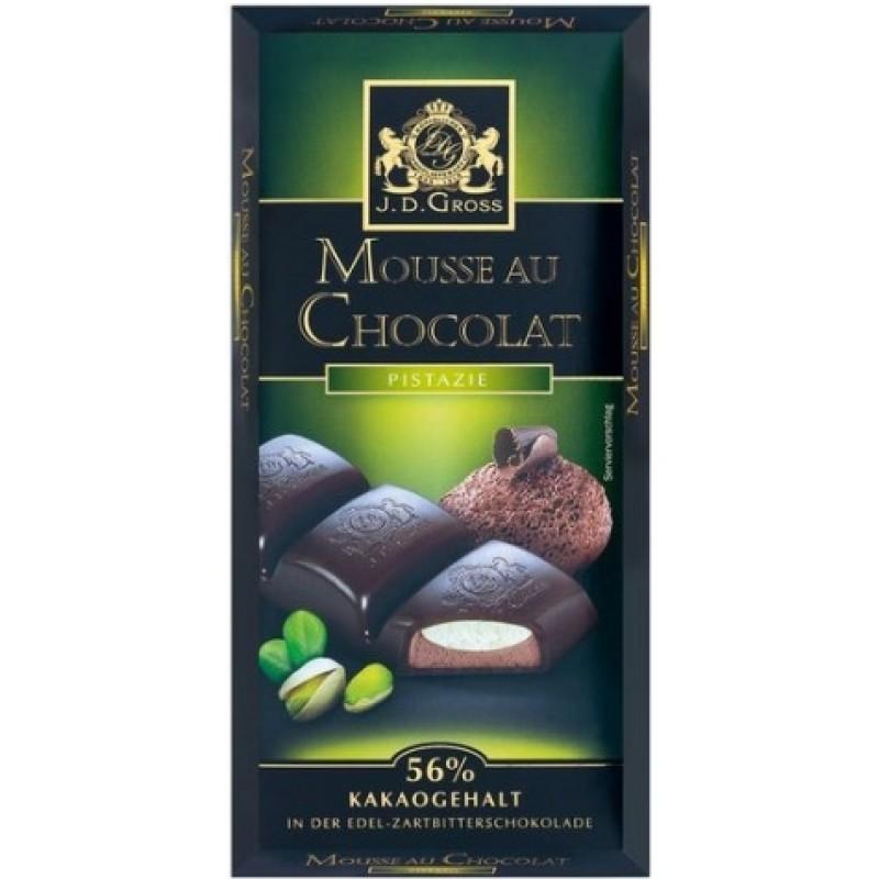 Шоколад J.D. Gross шоколадний мус і фісташки 183г