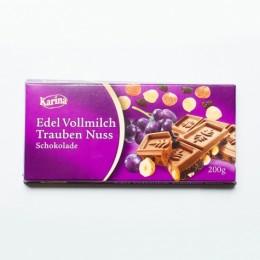 Шоколад Karina Edel Vollmilch Trauben Nuss 200г