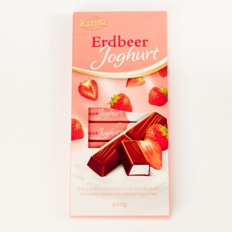 Шоколад Karina Полуничний йогурт 200г