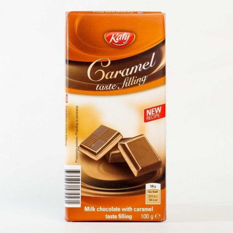Шоколад Katy молочний з карамельною начинкою 100г