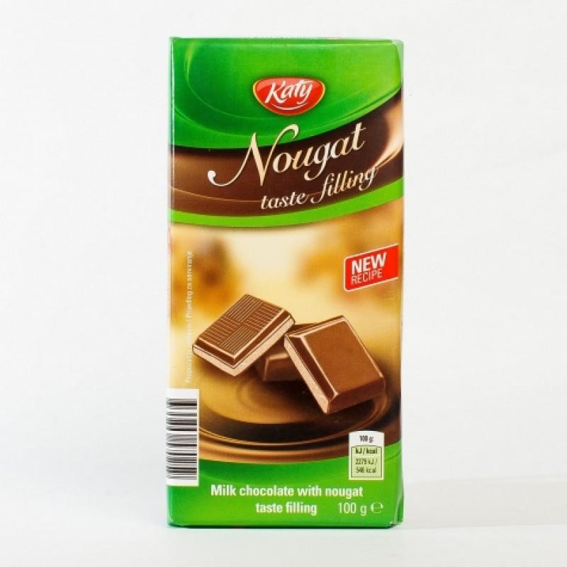 Шоколад Katy молочний з нугою 100г