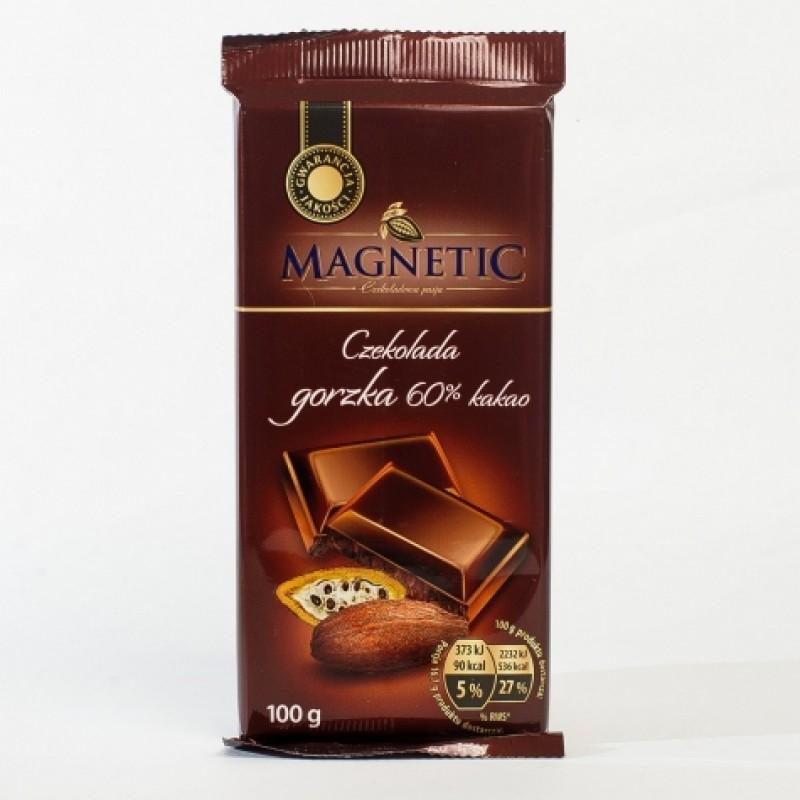 Шоколад Magnetic чорний 60% какао 100г