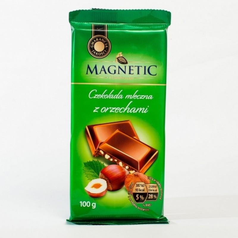 Шоколад Magnetic молочний з товченим горiхом 100г