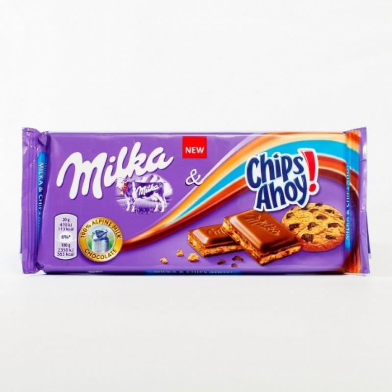 Шоколад Milka Chips Ahoy 100г