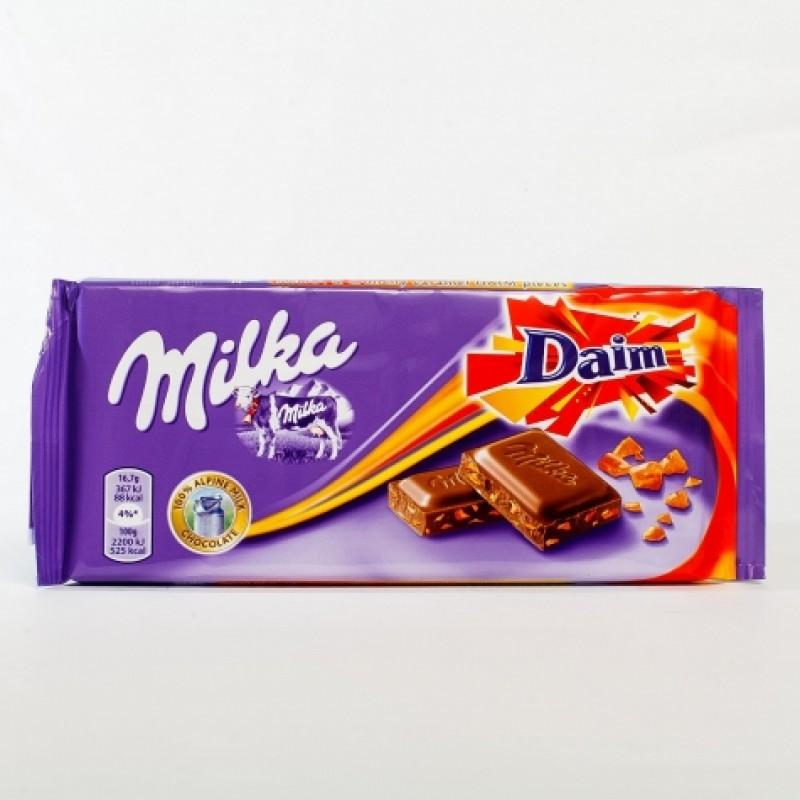 Шоколад Milka Daim карамель 100г