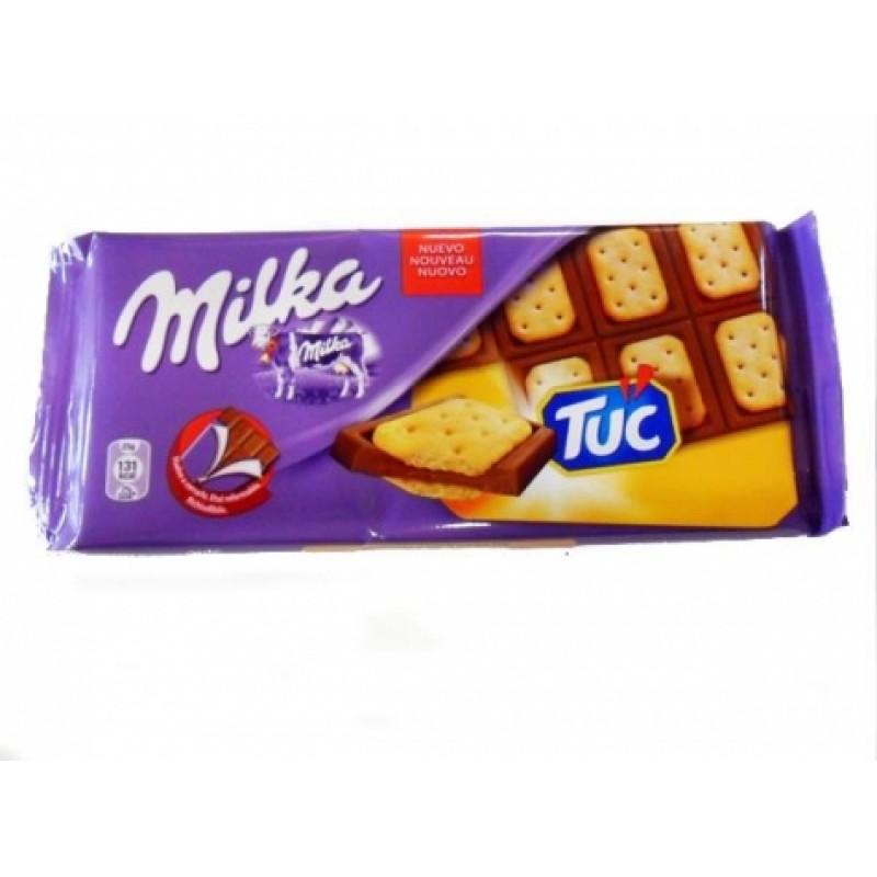 Шоколад Milka Tuc молочний 100г