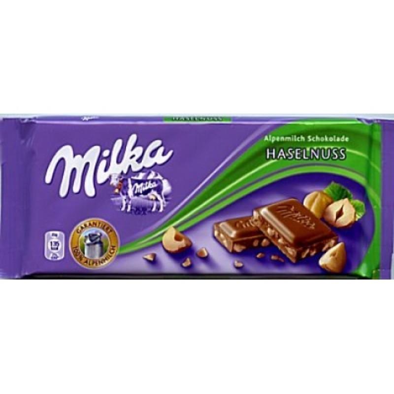 Шоколад Milka з лісовим горіхрм 100г