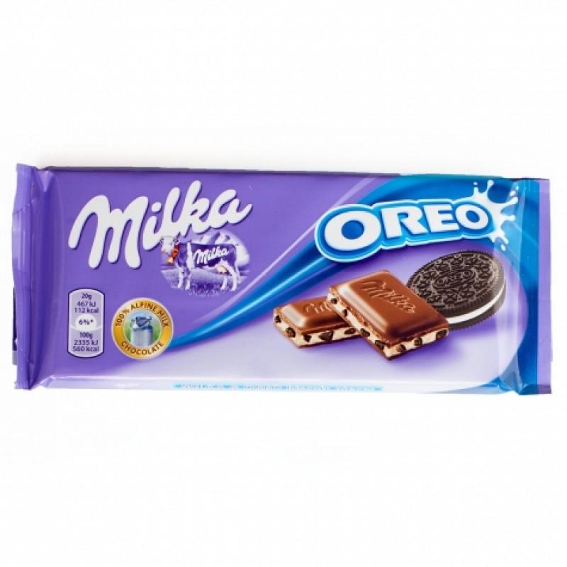 Шоколад Milka з печенням орео 100г