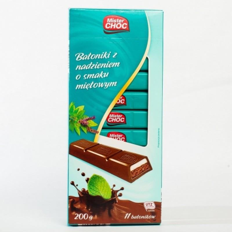 Шоколад Mister Choc з мятним смаком 200г