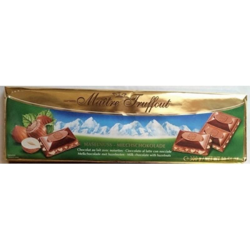 Шоколад Maitre Truffout молочний з фундуком 300г