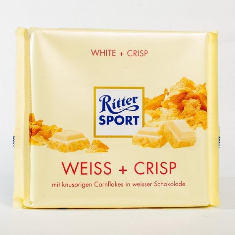 Шоколад Ritter Sport бiлий з пластiвцями 250г