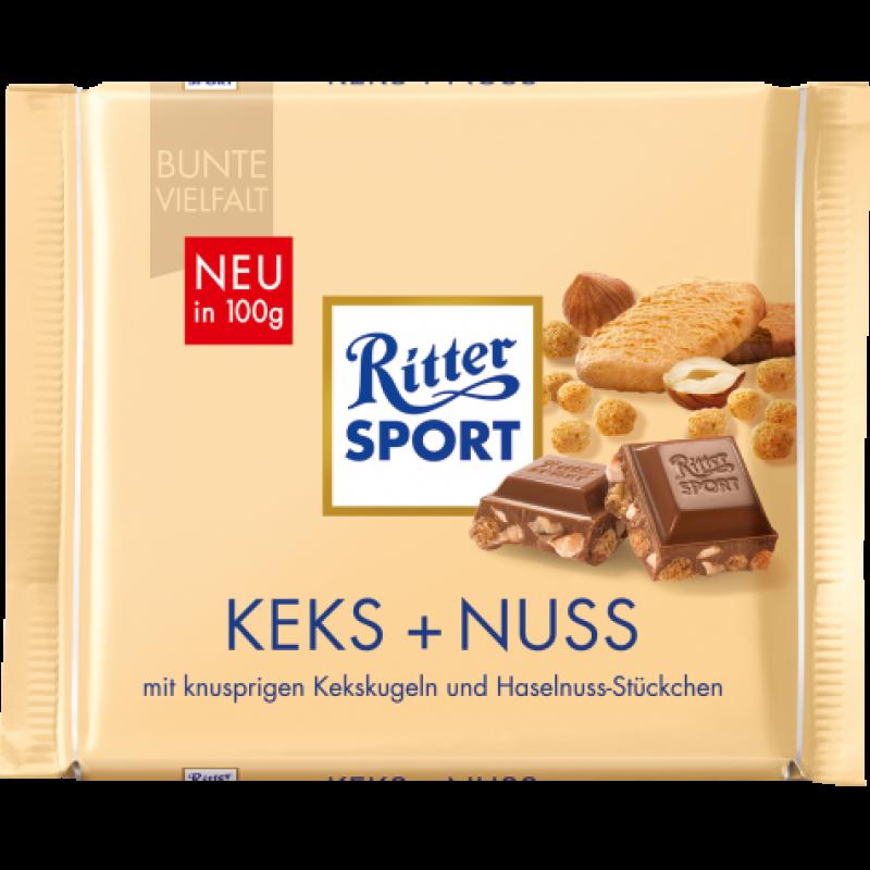 Шоколад Ritter Sport Keks + Nuss 100г