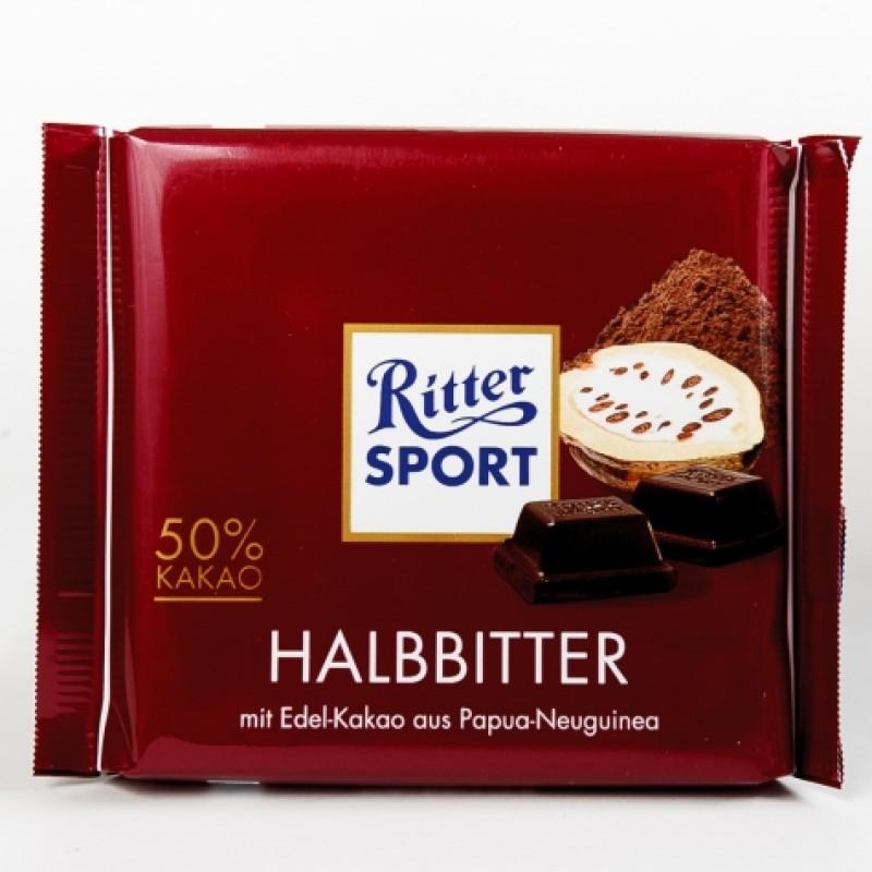 Шоколад Ritter Sport молочний 50% какао 100г