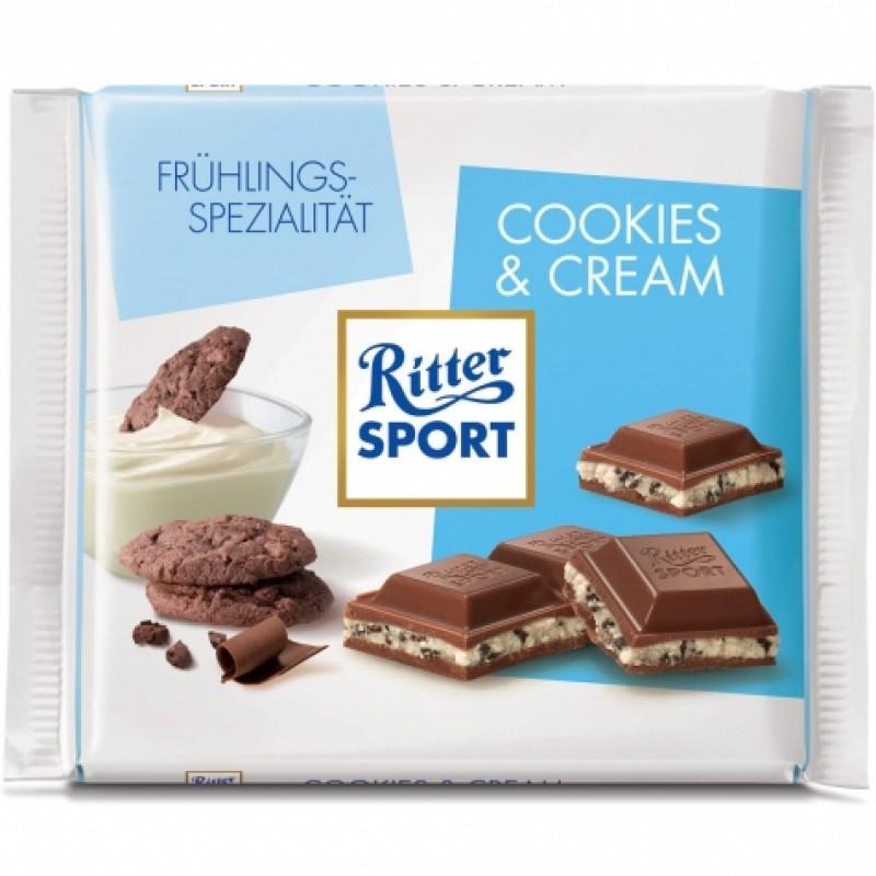 Шоколад Ritter Sport печиво та вершки 100г