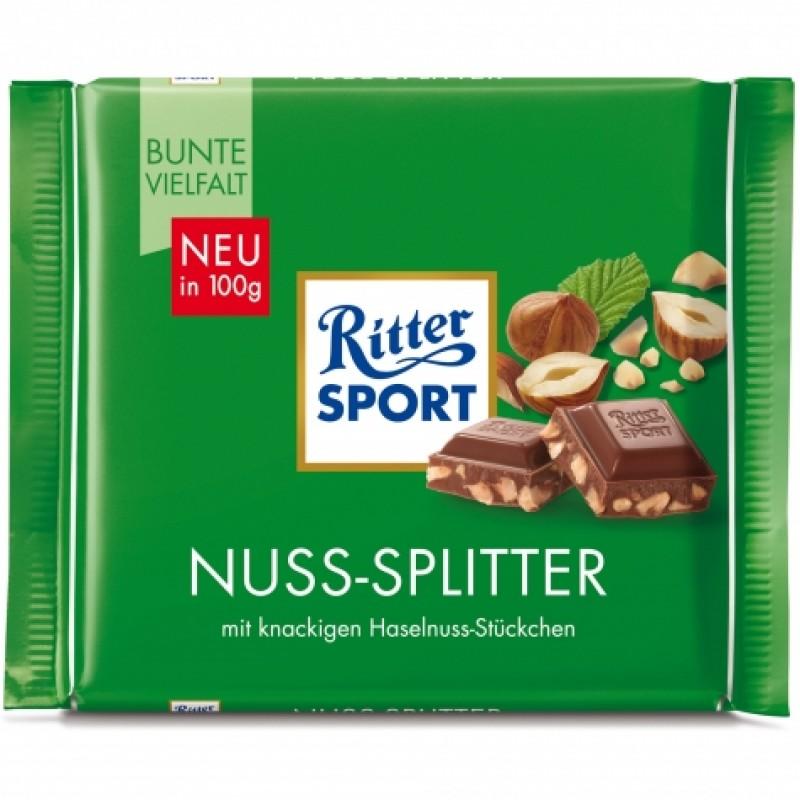 Шоколад Ritter Sport з лісовими горіхами 100г