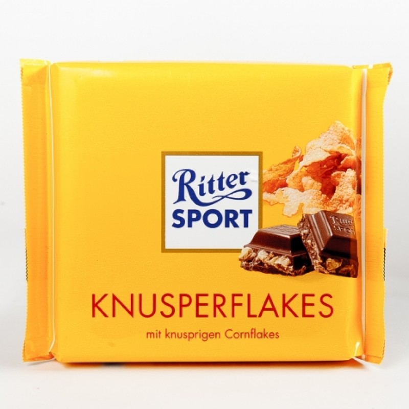 Шоколад Ritter Sport з хрусткими пластівцями 100г