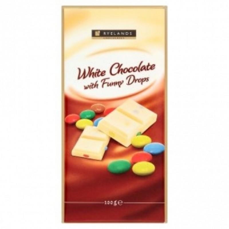 Шоколад Ryelands білий з M&M's всередині 100г