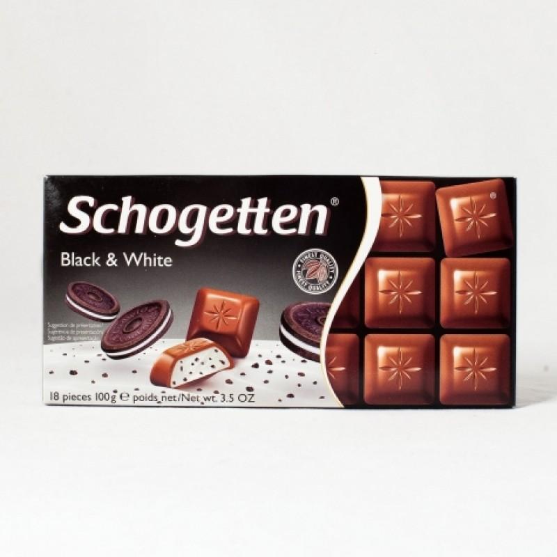 Шоколад Schogetten Black & White з печенням 100г