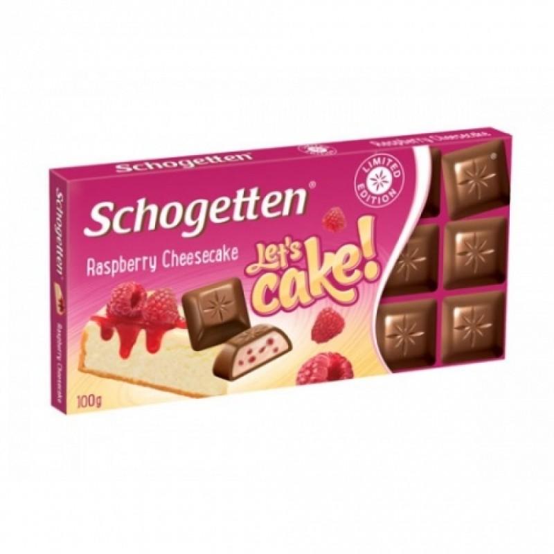 Шоколад Schogetten малиновый чизкейк 100г