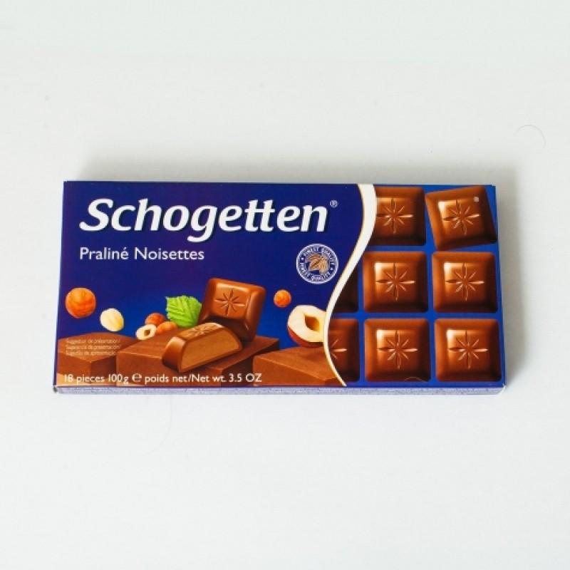 Шоколад Schogetten з горіховим праліне 100г
