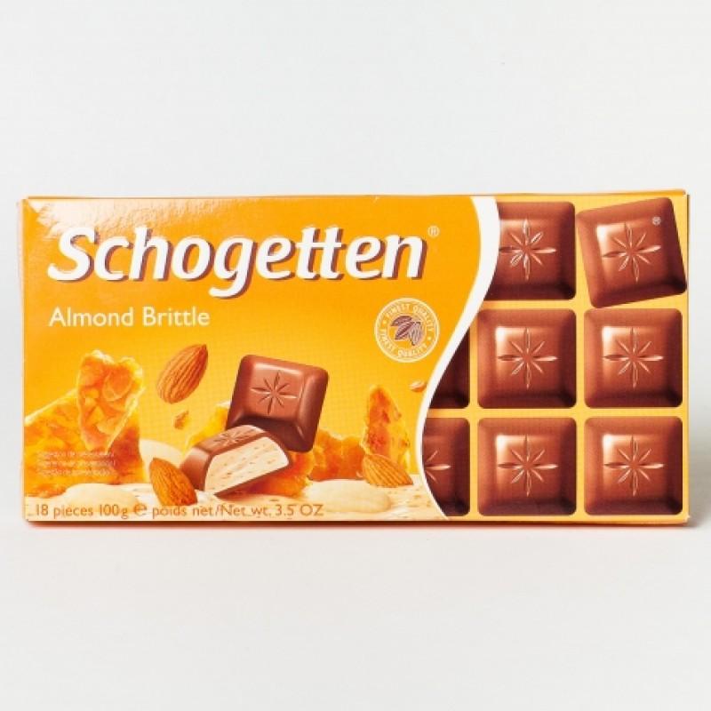 Шоколад Schogetten з мигдальними крихтами 100г