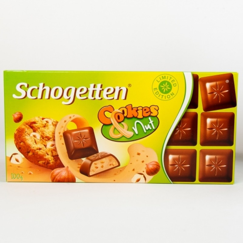 Шоколад Schogetten з печенням і крихтами фундука100г