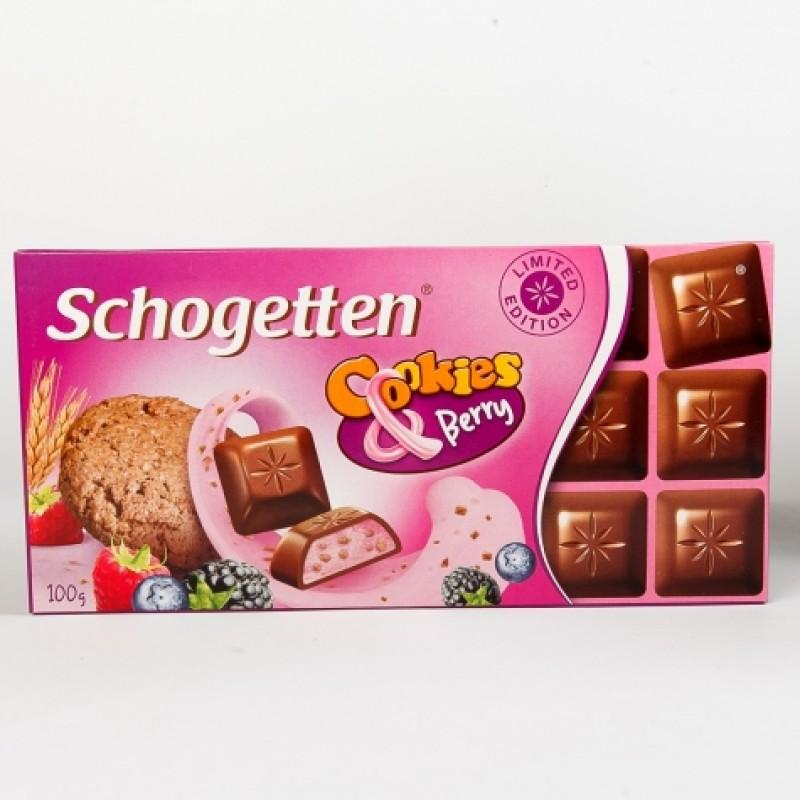 Шоколад Schogetten з печенням та лісовими ягодами 100г