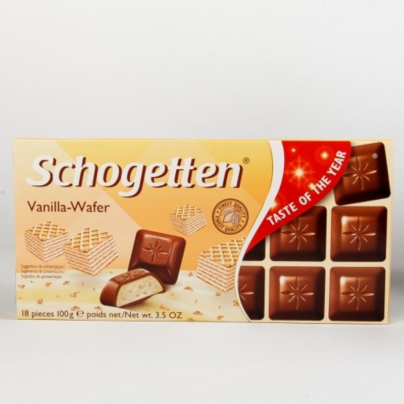 Шоколад Schogetten з ванільною вафелькою 100г
