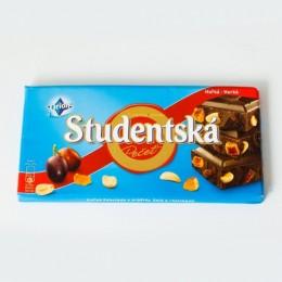 Шоколад Studentska чорний iз родзинками 180г