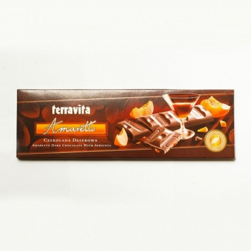Шоколад Terravita Amaretto абрикос 225г