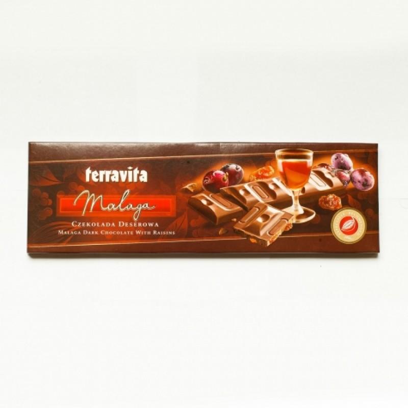 Шоколад Terravita Malaga з родзинками 225г
