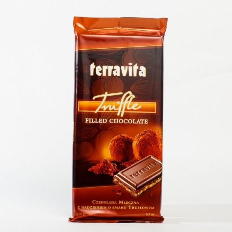 Шоколад Terravita з трюфельною начинкою 100г