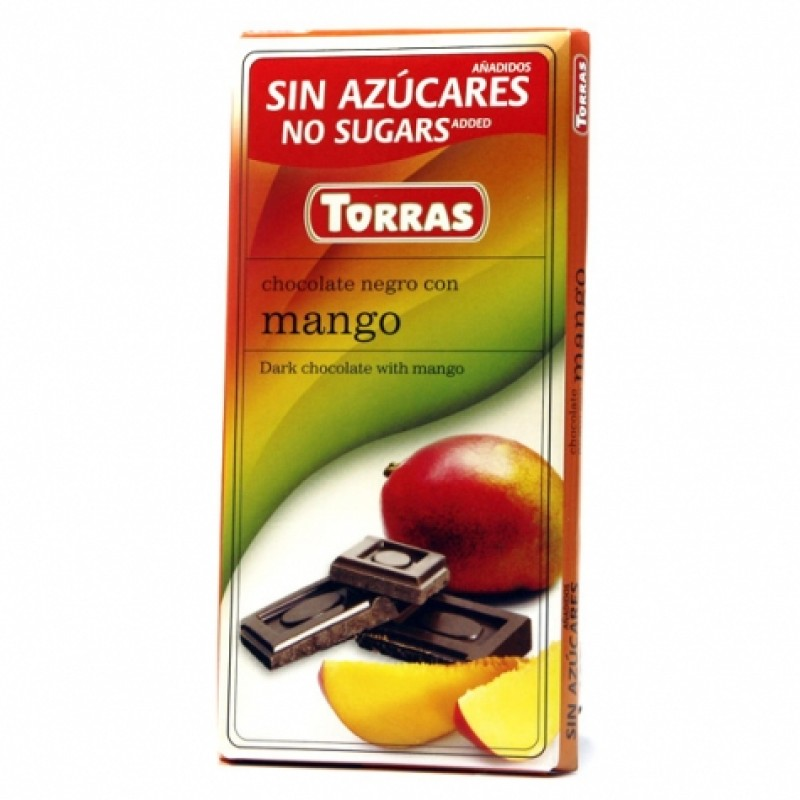 Шоколад Torras чорний з манго 75г