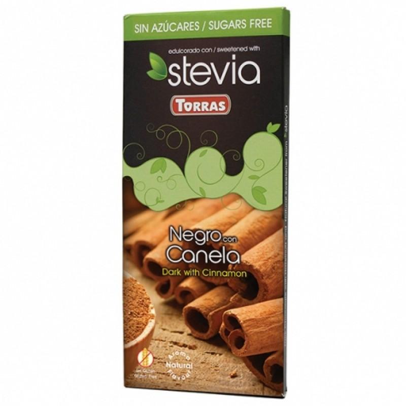 Шоколад Torras Stevia чорний з корицею 125г