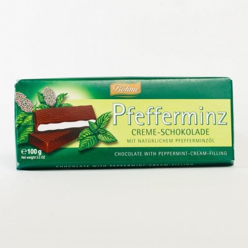 Шоколад з мятою Bohme 100г