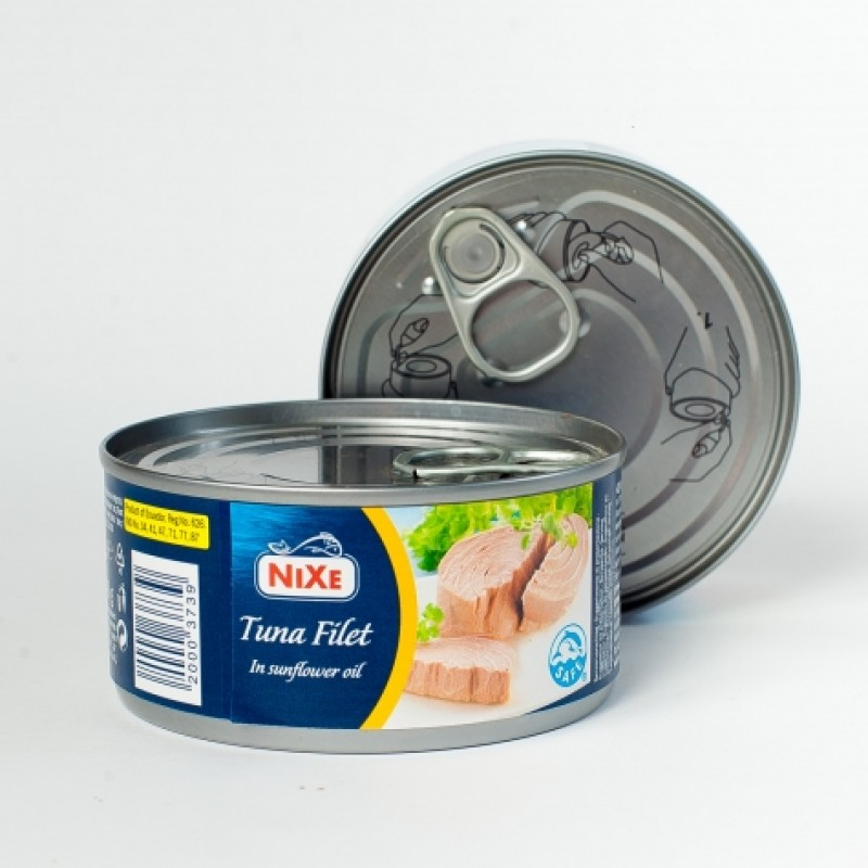 Тунець Nixe в рослиннiй олii 160г