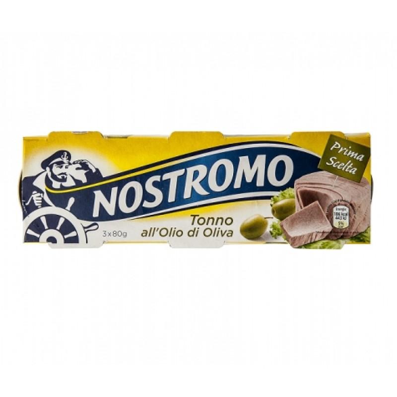 Тунець Nostromo в оливковiй олiї 80г