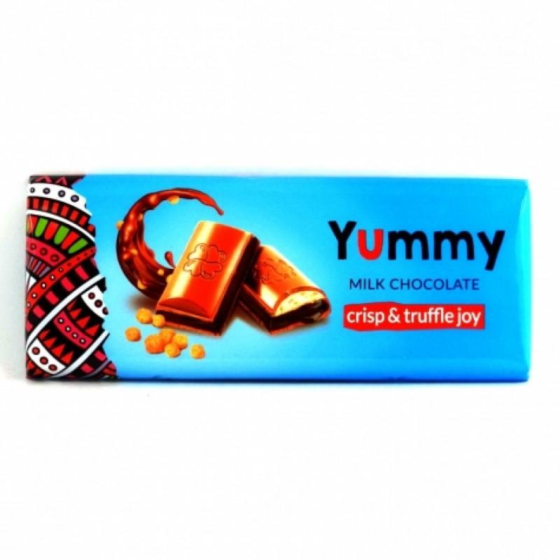 Шоколад Yummy молочний з кріспами 270г