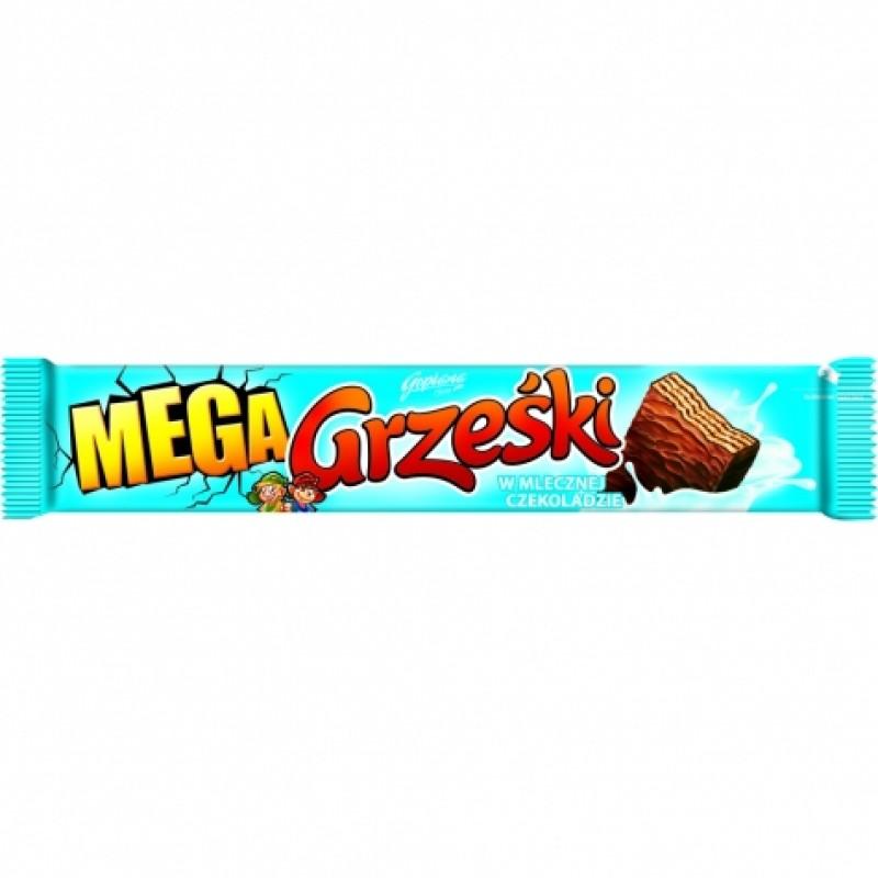 Вафелька Mega Grzeski в молочному шоколаді 48г