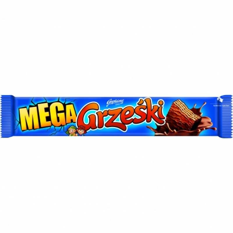 Вафелька Mega Grzeski з кавовим кремом та шоколадом 48г