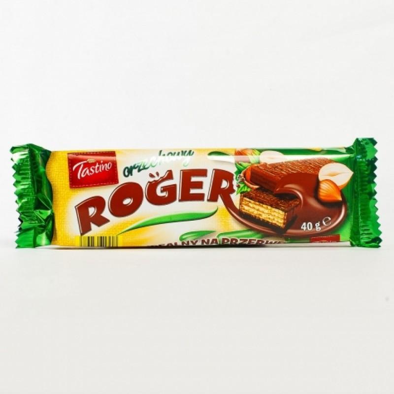Вафлi Roger nuts з молочним шоколадом 40г
