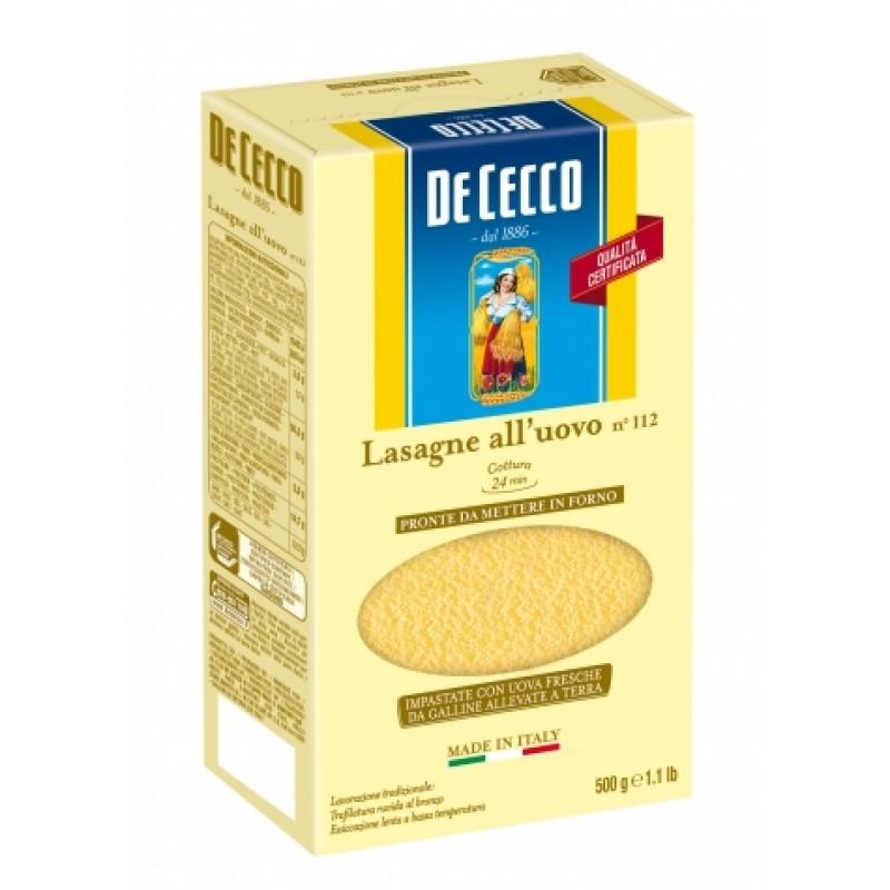 Лазанья De Cecco lasagna 500г