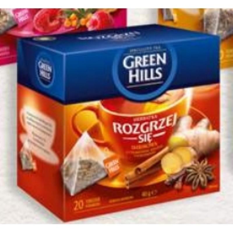 Чай Green Hills iмбир та кориця 20пірамідок
