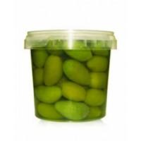 Зелені оливки гіганти Olive verdi in salamoia в розсолі на вагу ціна за 1кг
