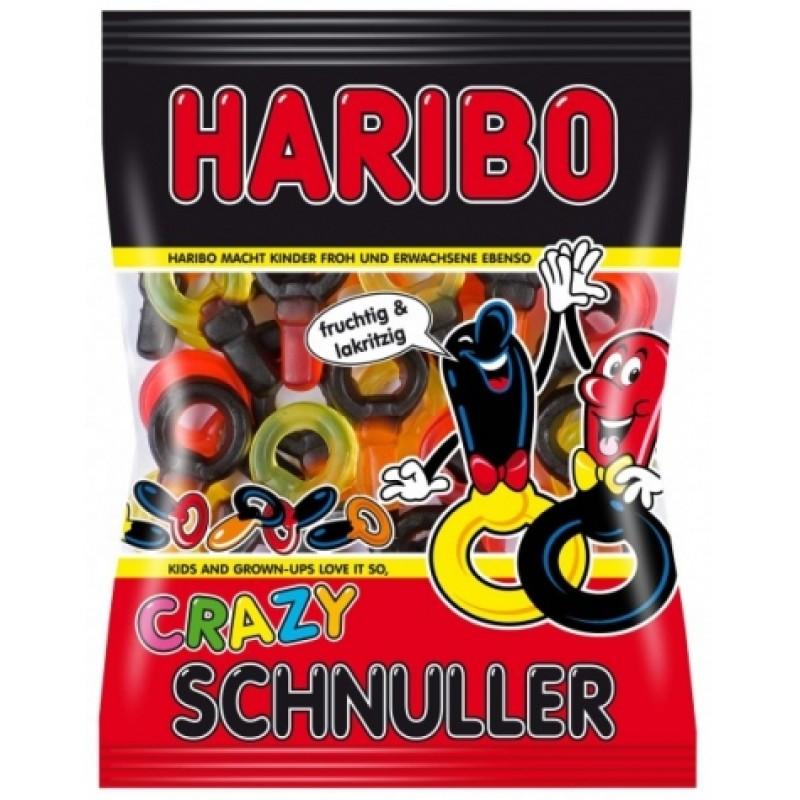 Желейки Haribo crazy schnuller з лакрицею 200г