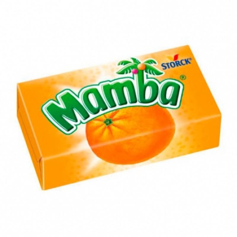 Жувальні цукерки Mamba апельсин 6шт 26г